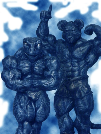 bodybuilding figurines